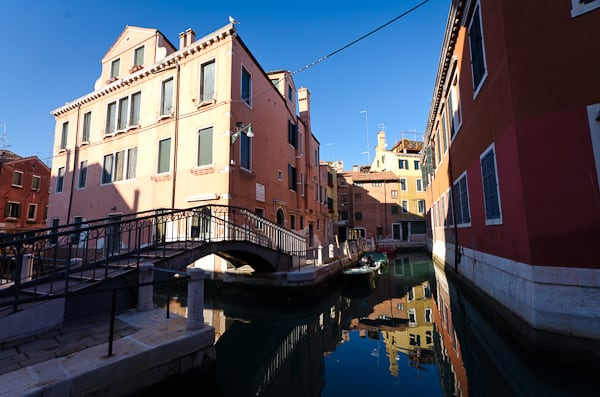 The streets and canals of Venice