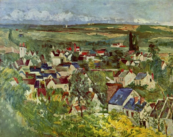 Paul Cezanne Landscape of Town