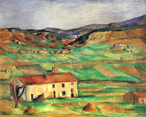 Paul Cezanne Landscape with house