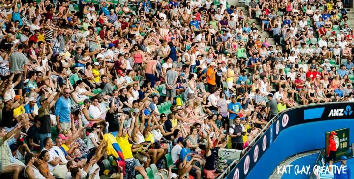 australian open crowd