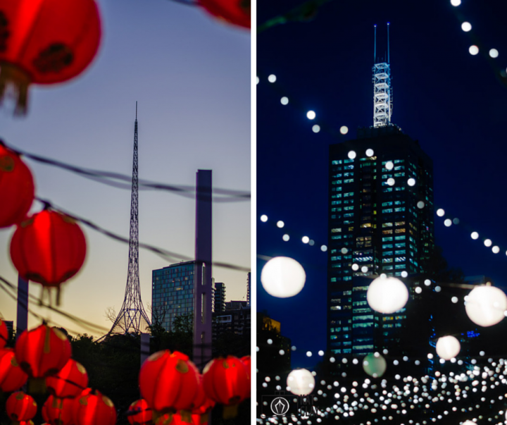 lanterns at night noodle markets