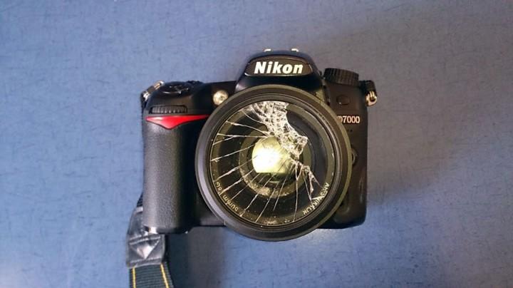 broken camera filter