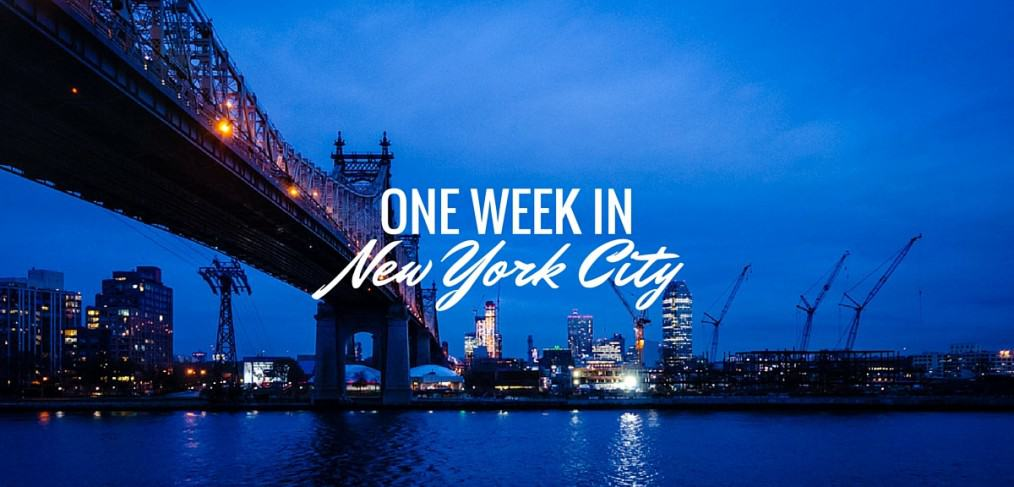 One week in New York City