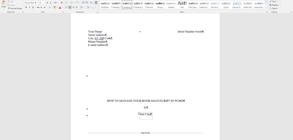 manuscript word