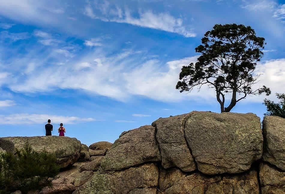 People sitting at You Yangs Regional Park