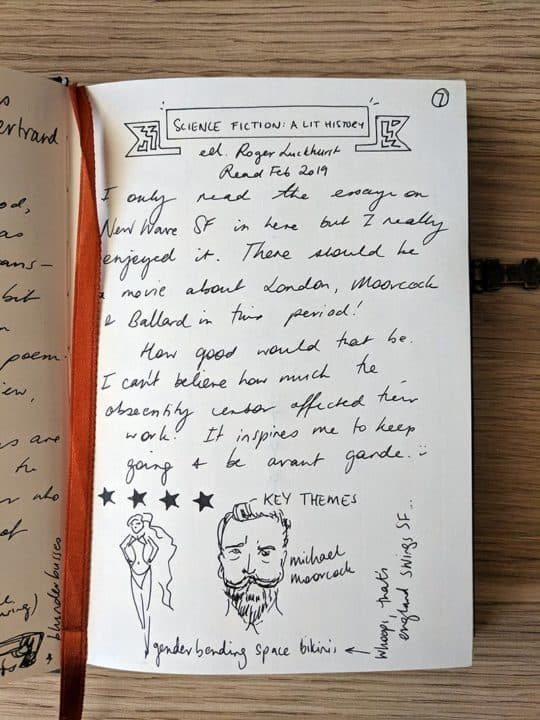 Book journal entry on Science Fiction a Literary History