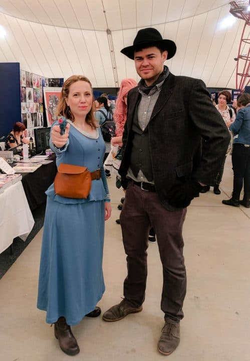 Cosplay of Dolores from Westworld